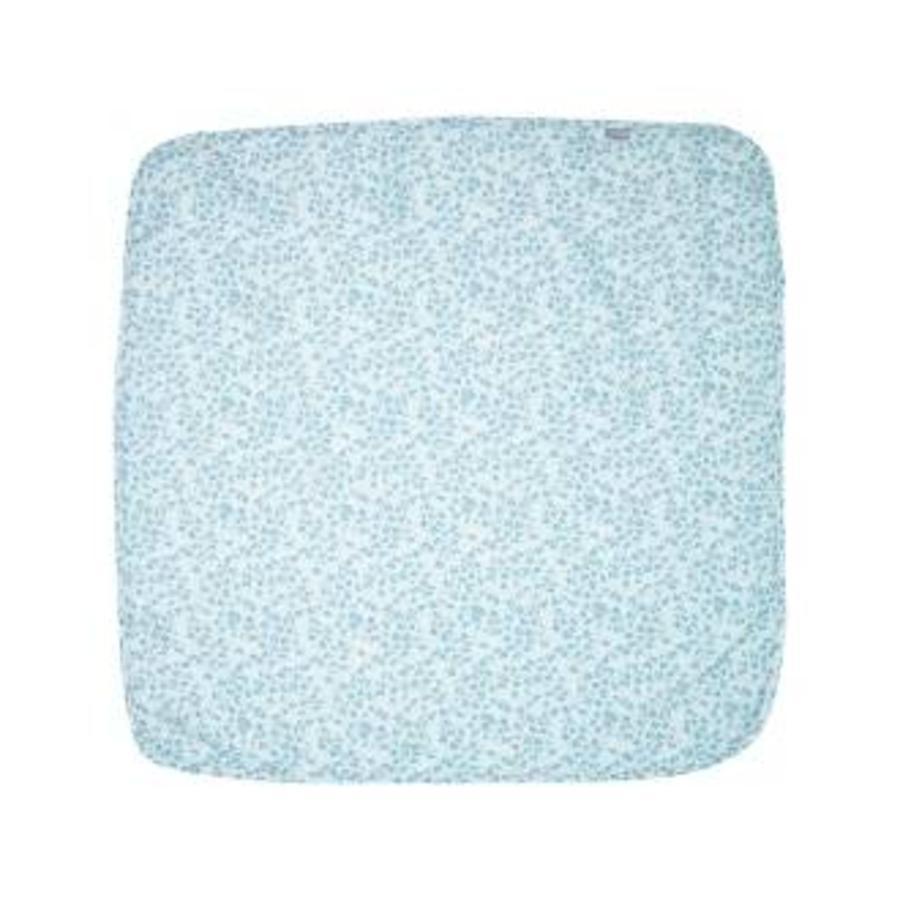 bébé jou® Mulltuch Leopard Blue 110 x 110 cm