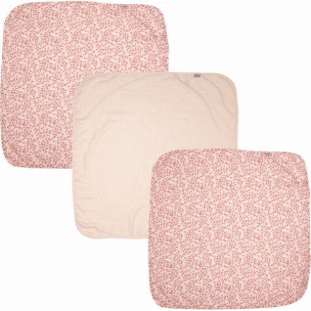 bébé jou® gasbindskjerf 3-pakks Leopard Pink 70x70 cm