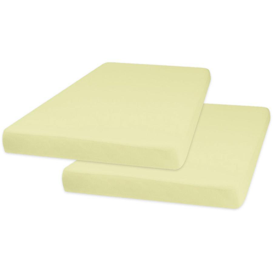 Playshoes Jersey Spannbettlaken 2er-Pack 70 x 140 cm gelb