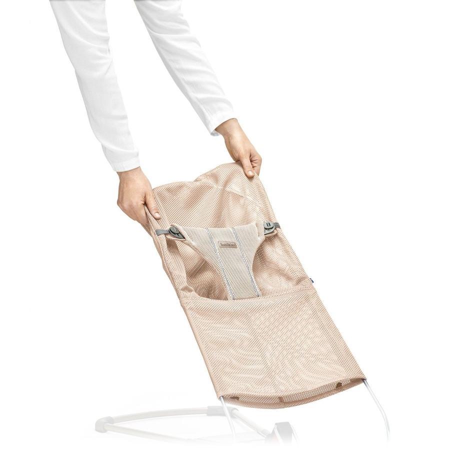BABYBJÖRN Stoffsitz für Babywippe Perlmuttrosa Mesh