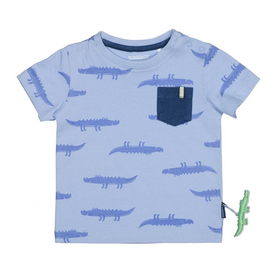 STACCATO dětské tričko, modré s celoplošným potiskem