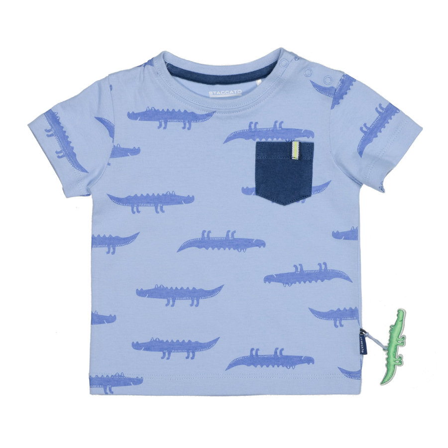STACCATO T-Shirt soft ocean Alloverprint