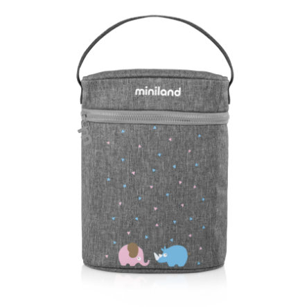 Miniland kaksinkertainen lämpenemispussin termospuku vauvapullot ja termospullot harmaa