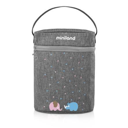 miniland podwójny worek grzewczy termibag na butelki dla niemowląt i kolby termosu szary