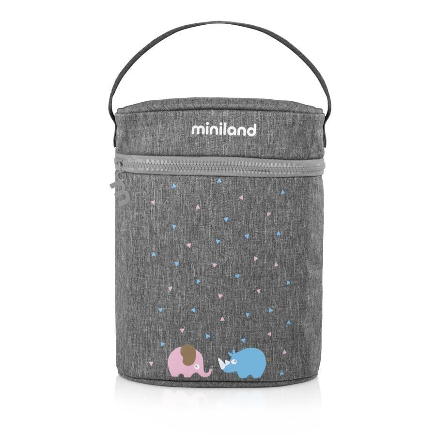 miniland bolsa de doble calentamiento thermibag para biberones y termos gris