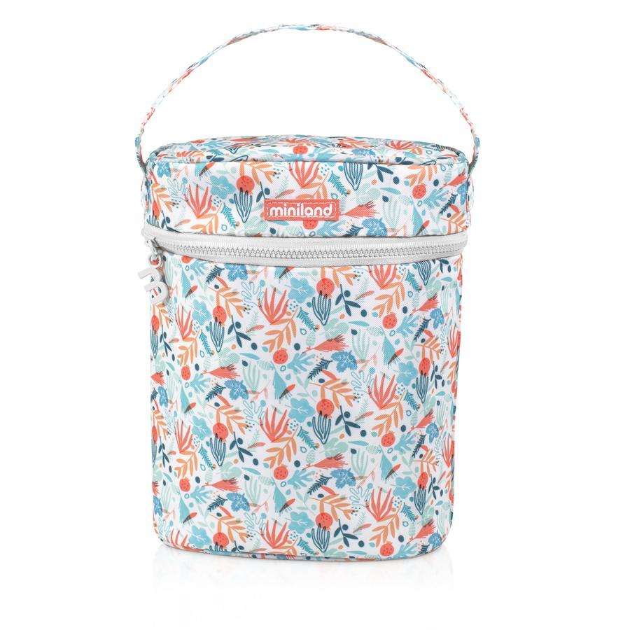 miniland dobbelt varmepose termibag til babyflasker og termokolber farvet