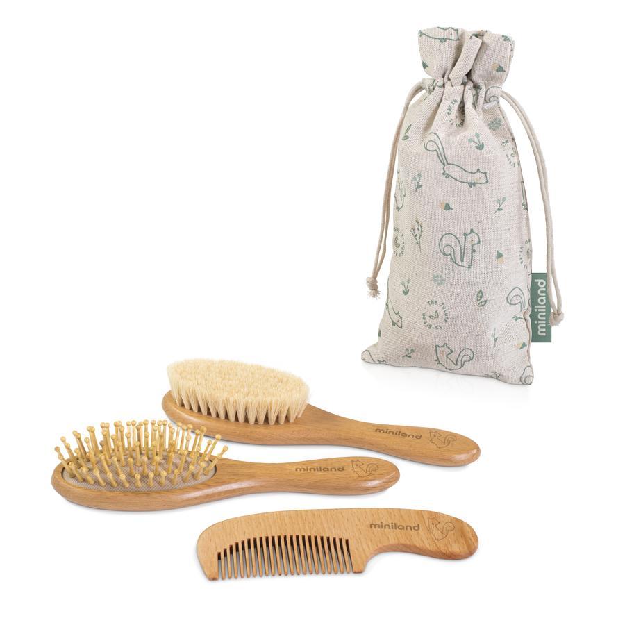 miniland Set aus Chip weicher Bürste, Kamm und Massagebürste