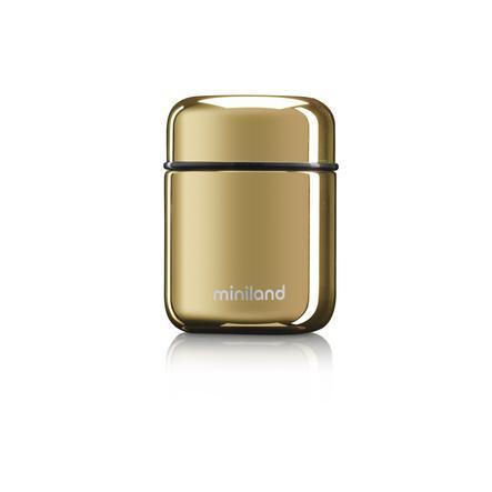 miniland mini thermosfles in Permium afwerking Deluxe Goud