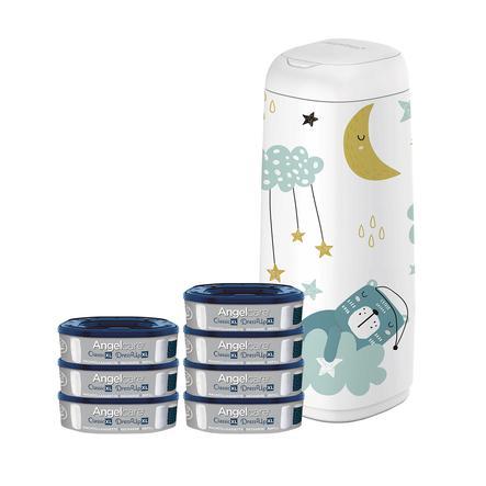 Angelcare® Windeleimer Dress Up XL + 7 Nachfüllkassetten + Bezug: Schlafender Bär