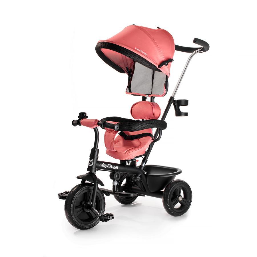 Kinderkraft Tricycle enfant évolutif 2en1 Baby Tiger FLY corail