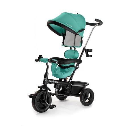 Baby Tiger by Kinderkraft Tricycle enfant évolutif 2en1 Fly vert/bleu