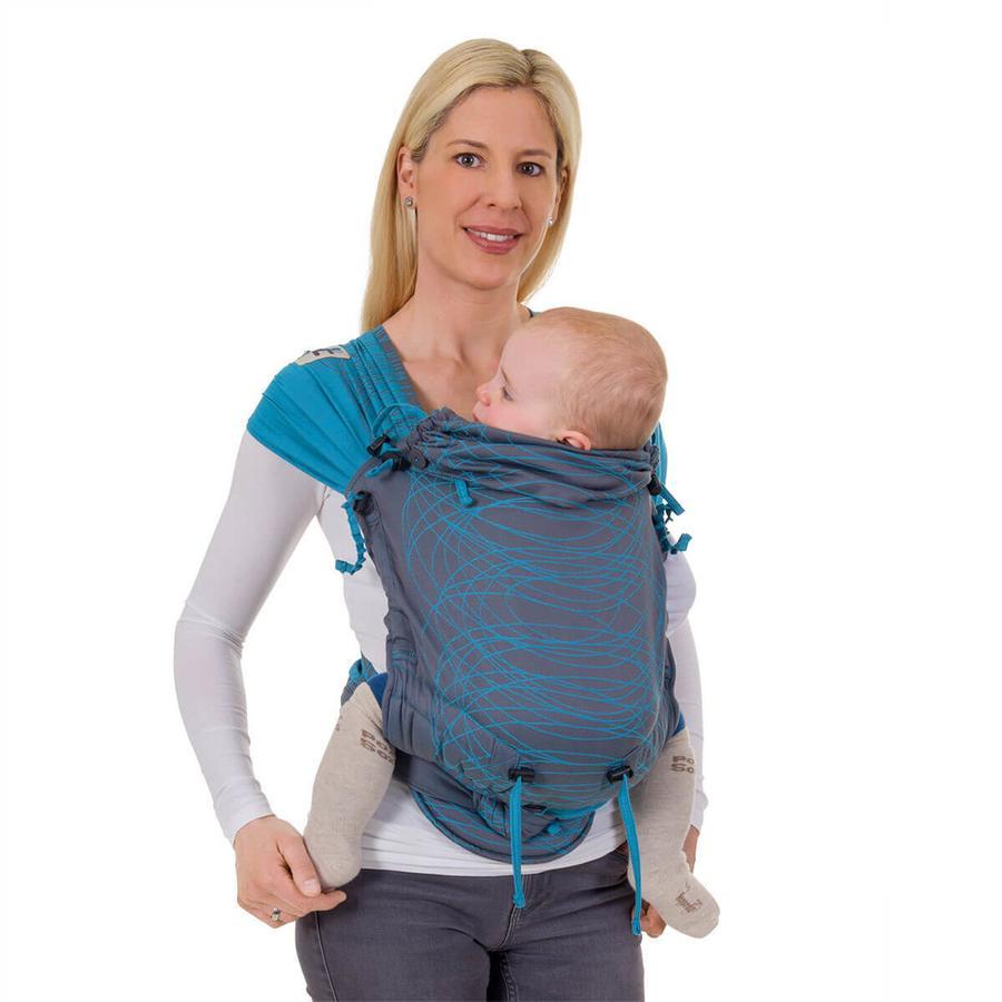 Hoppediz Porte-bébé Hop-Tye Buckle New York turquoise
