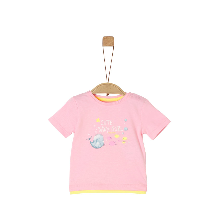 s.Oliver T-Shirt pink/yellow