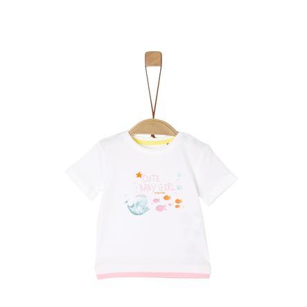 s.Oliver T-Shirt white/pink