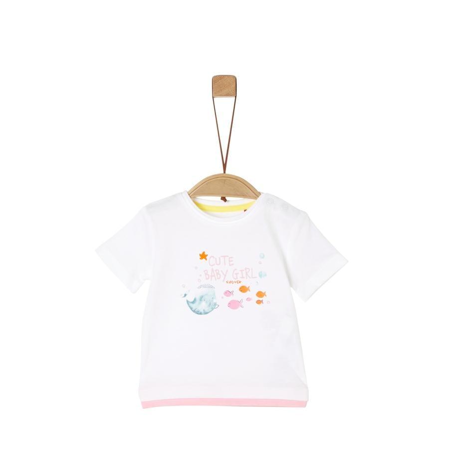 s. Olive r T-Shirt white / rose