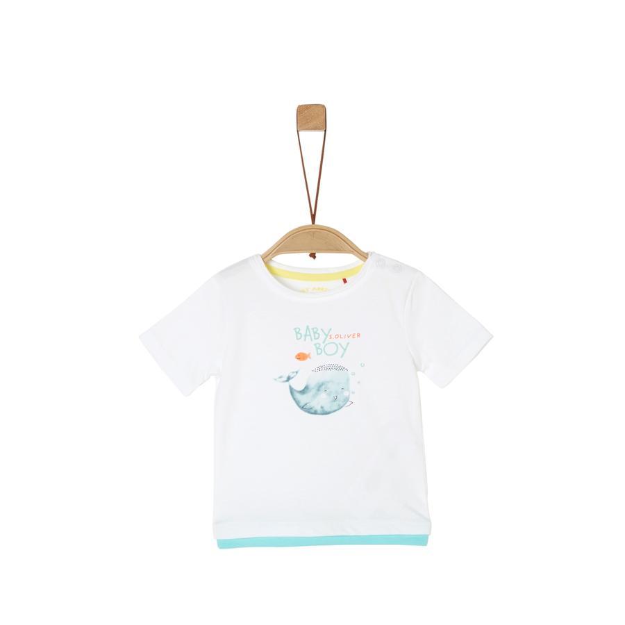 s. Oliv r T-shirt vit