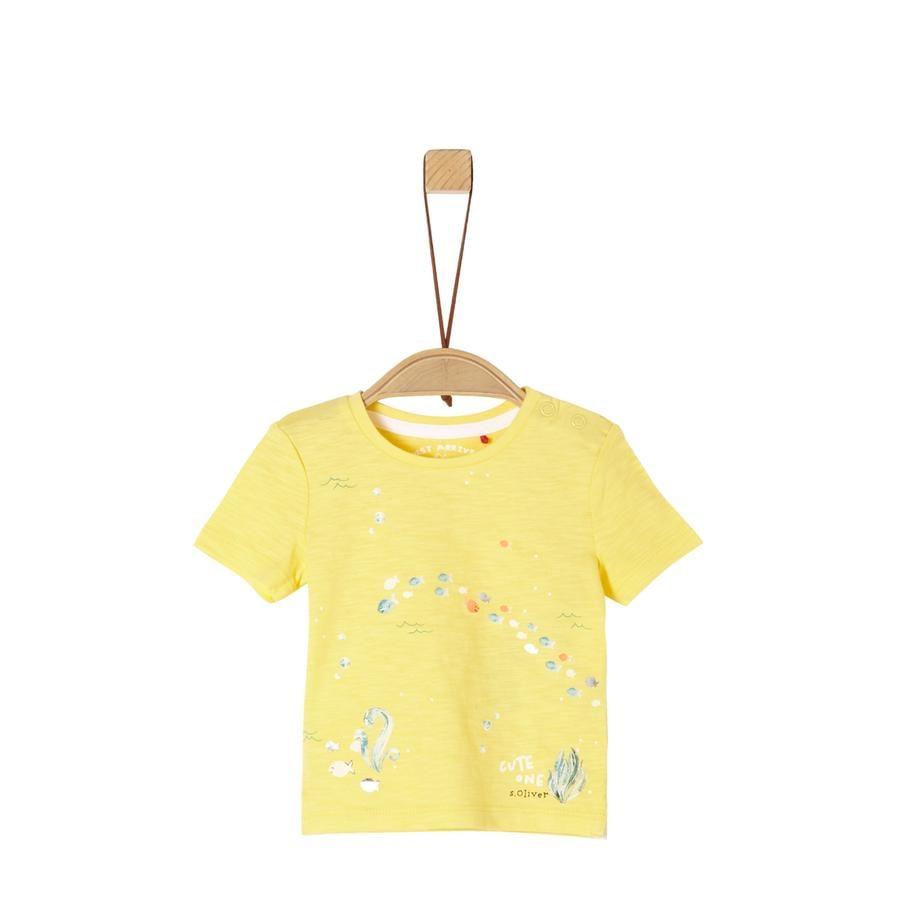 s. Oliver tričko, světle žluté