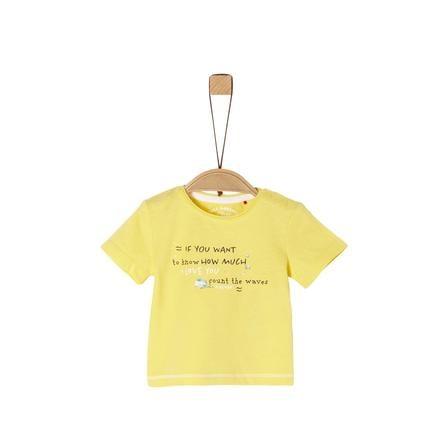 s.Oliver T-paita vaaleankeltainen