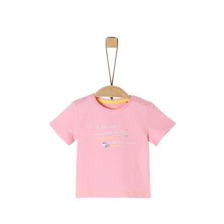 s. Oliver T-skjorte lys rosa