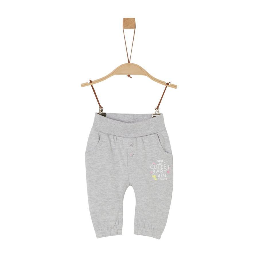 s. Olive r Pantalones de chándal gris melange