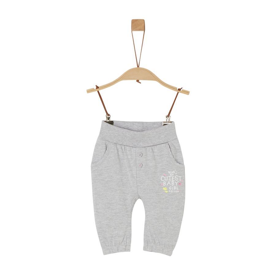 s. Olive r Pantaloni della tuta grigio melange