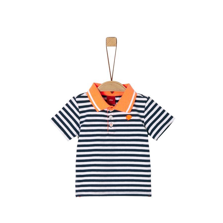 S. Oliver Polo skjorte mørkeblå striper