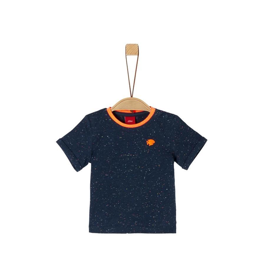 s. Olive r T-shirt blå melange
