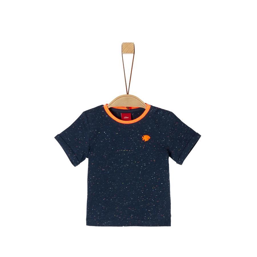 S. Oliver T-skjorte blå melange