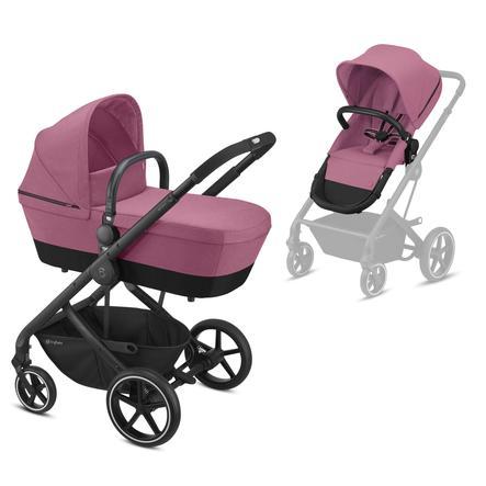 cybex GOLD Kinderwagen Balios S 2 in 1 Black Magnolia Pink