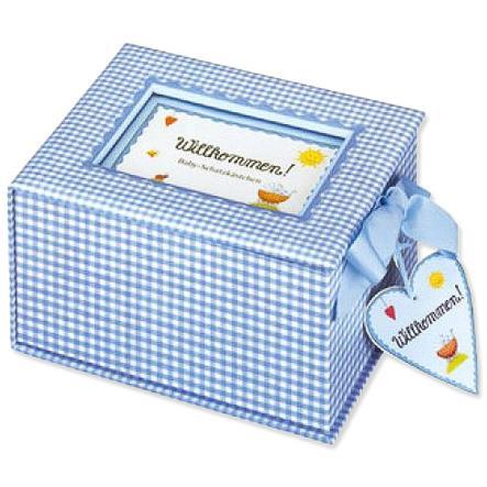 """COPPENRATH Baby-Schatzkästchen """"Willkommen!"""" hellblau"""