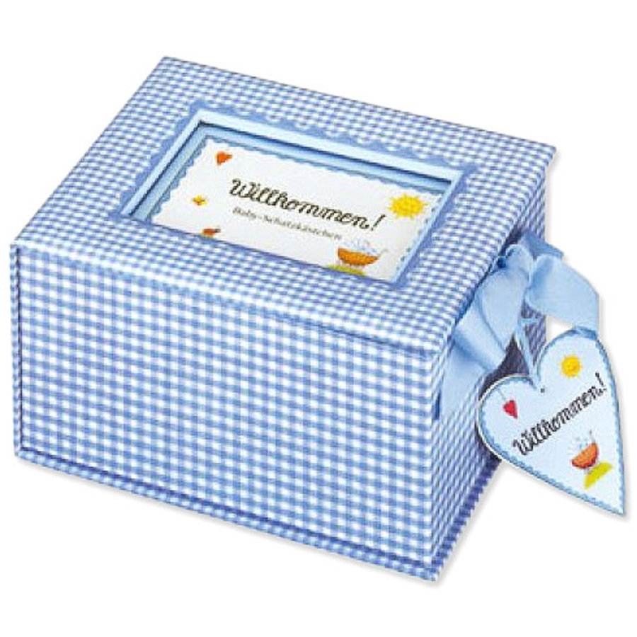 COPPENRATH, Baby-Schatzkästchen Willkommen light blue