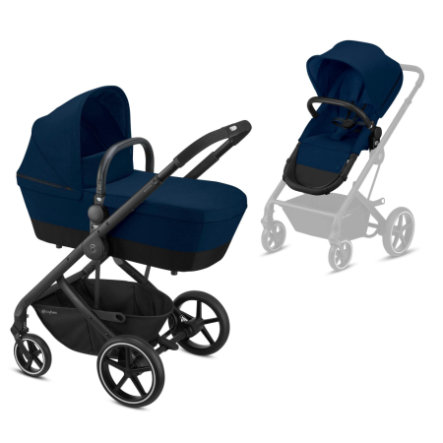cybex GOLD Kinderwagen Balios S 2 in 1 Black Navy Blue