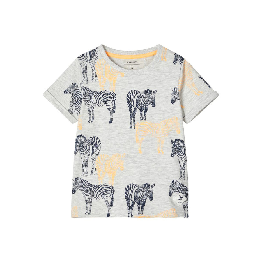 name it T-Shirt NMMJASTO Light Grey Melange