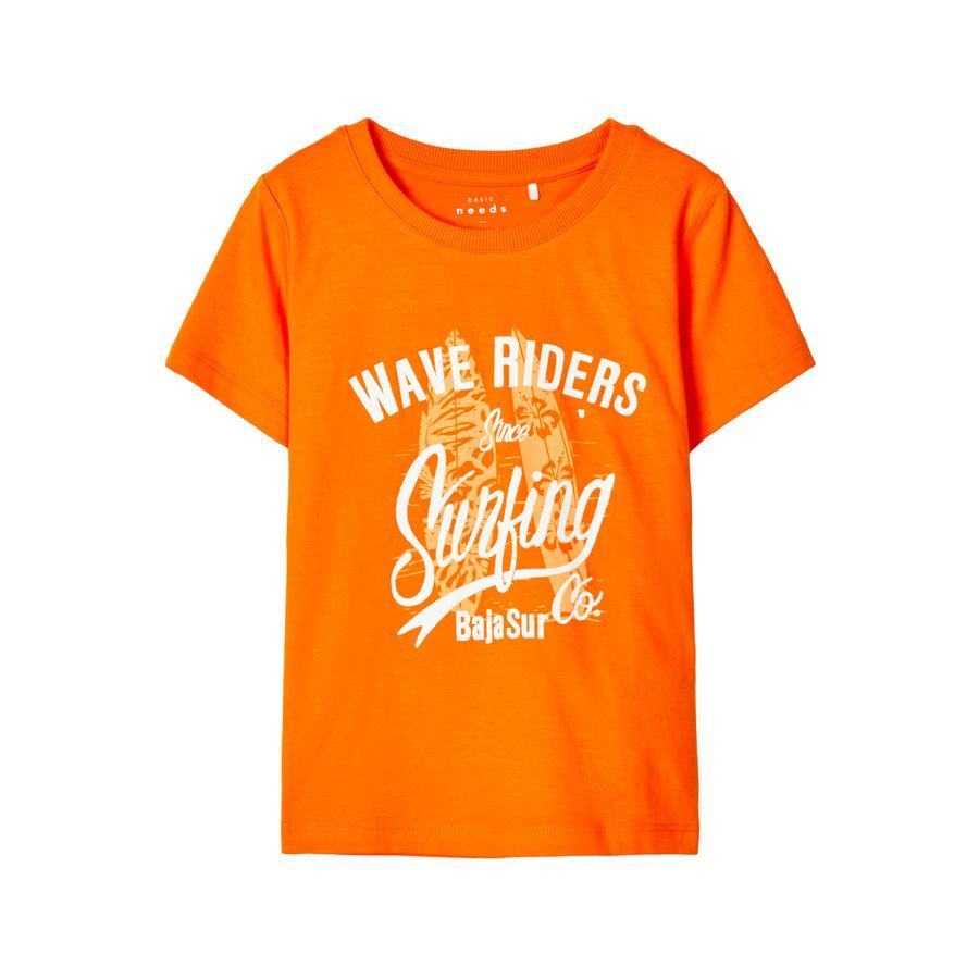 name it T-Shirt NMMVAGNO Vibrant Orange