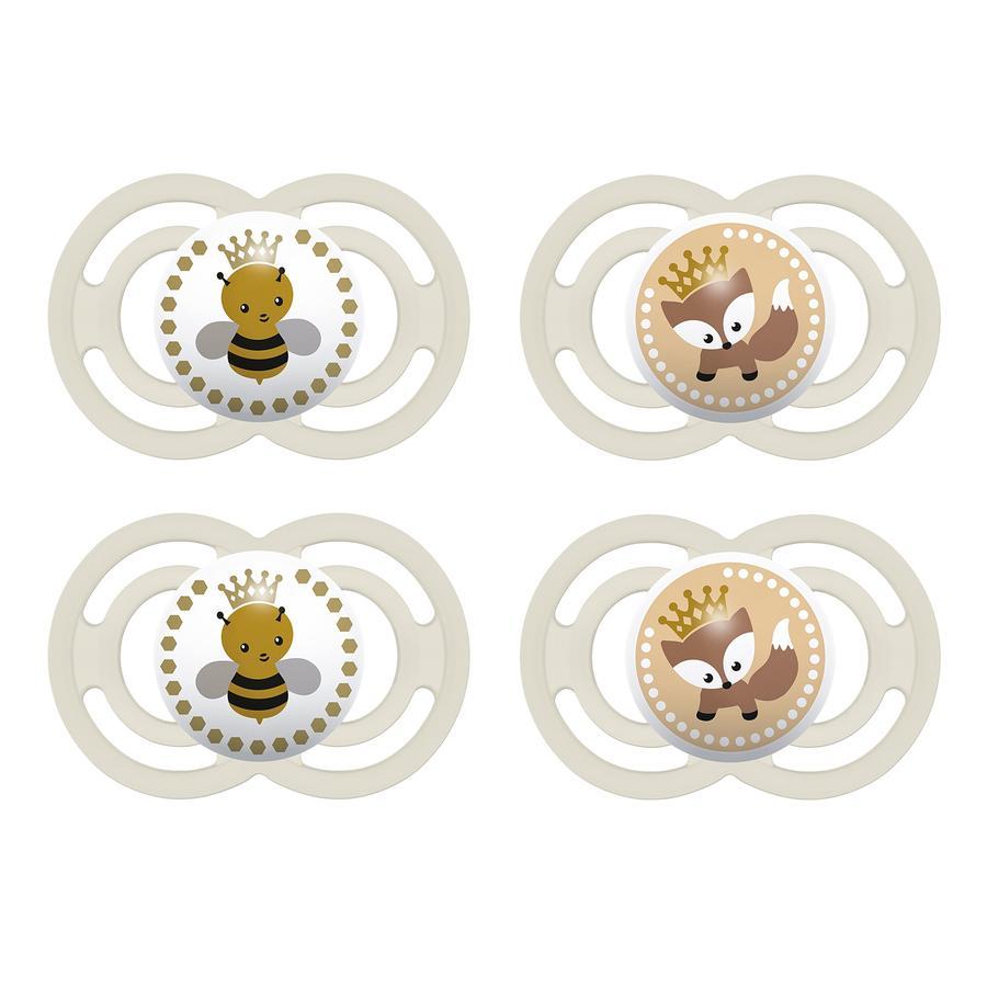 MAM Succhietto Perfect in silicone 16+ mesi 4 pezzi beige
