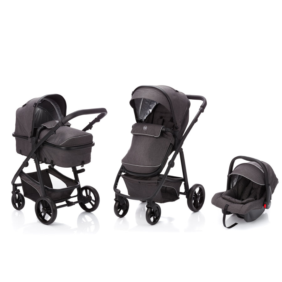 fill Kinderwagen Set Panther Elite 3 in 1 Dunkelgrau Melange
