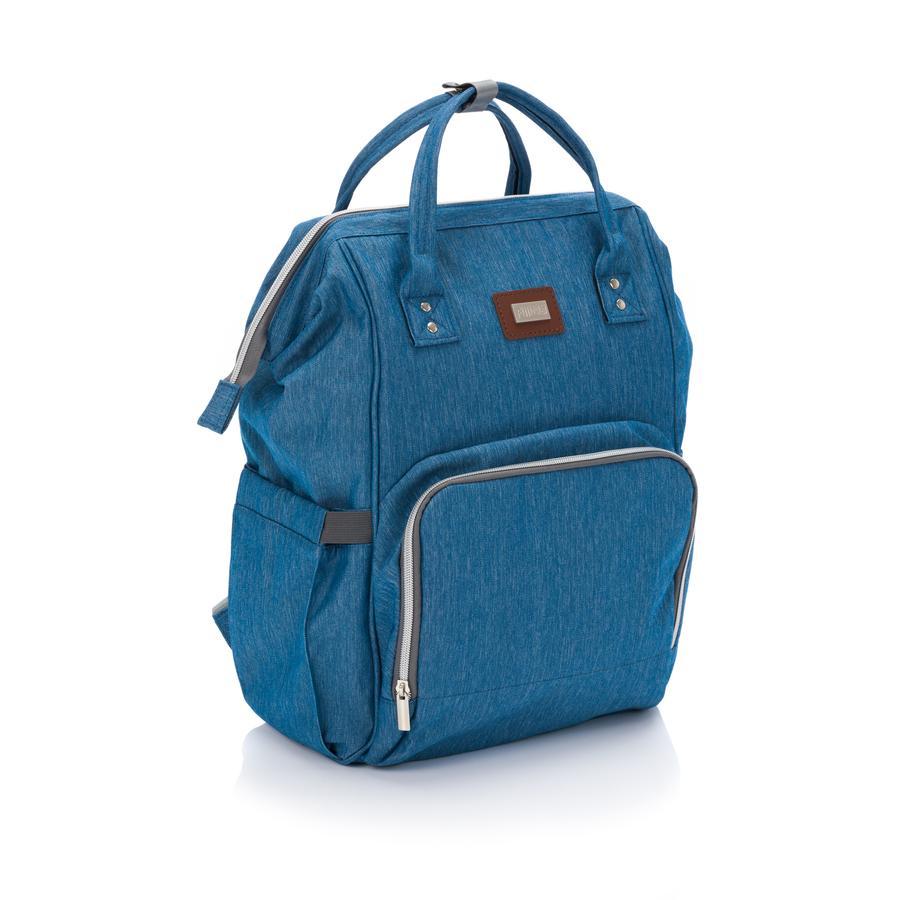 fillikid ryggsäck Paris Melange Jeansblau