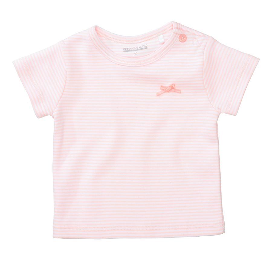 STACCATO T-shirt bl ›d ferskenstribet