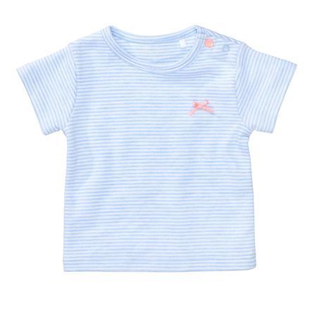 STACCATO T-Shirt light blue melange gestreift