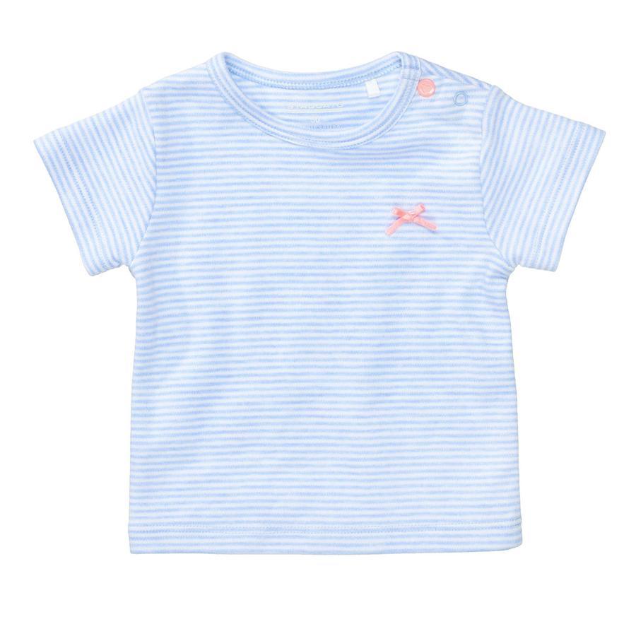 STACCATO T-skjorte lyseblå melange stripete