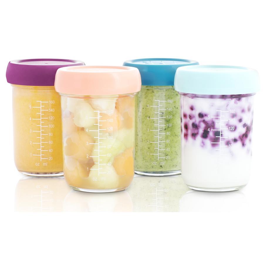 babymoov Pots de conservation repas bébé Babybols verre 4x240 ml