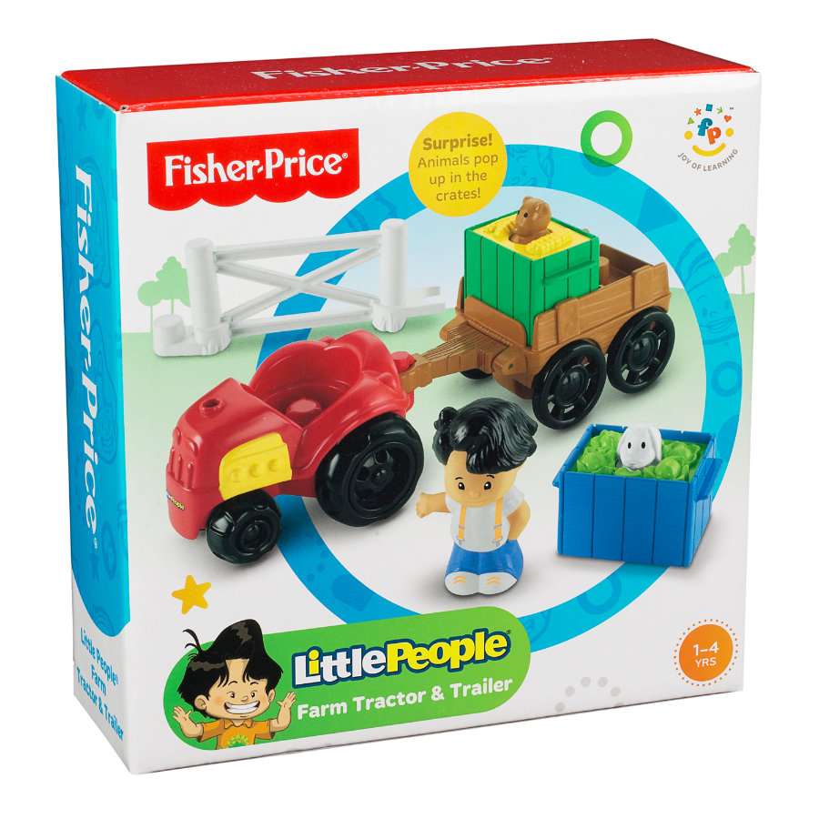 FISHER PRICE Little People - Traktor z przyczepką