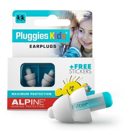 Alpine Gehörschutz Pluggies Kids, weiß