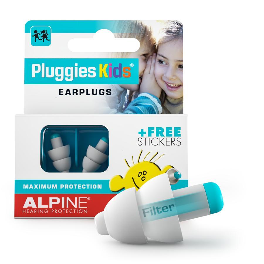 Alpin e Ochrana sluchu Zásuvky Děti, bílé