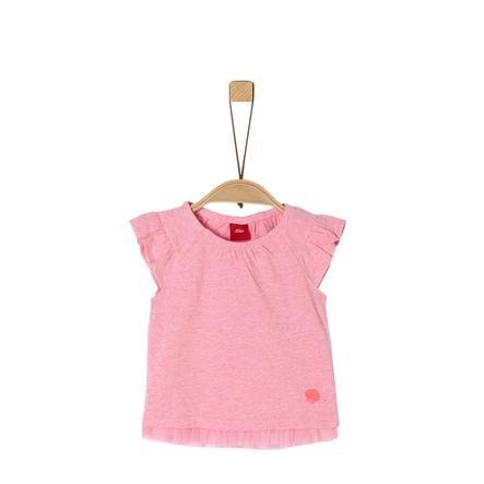 S. Oliver T-skjorte rosa melange