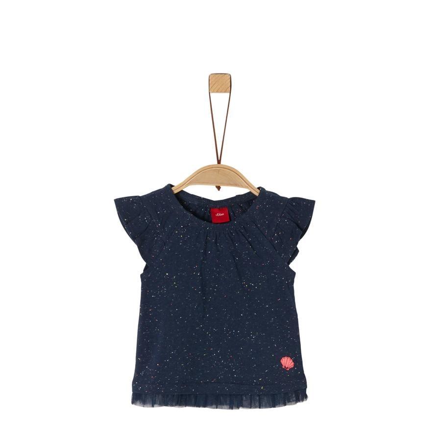 s.Oliver T-shirt mörkblå melange