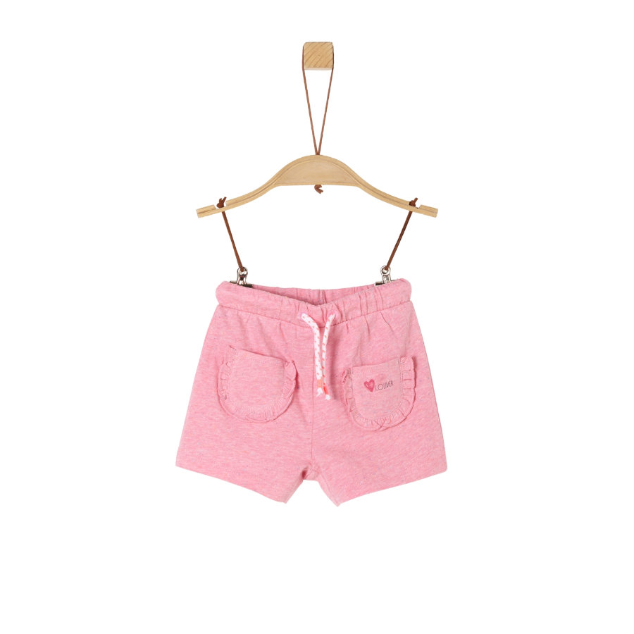 s.Oliver Sweatshorts light pink melange