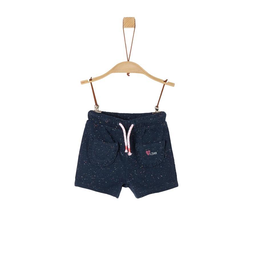 s. Olive r Mélange de shorts bleu de sueur