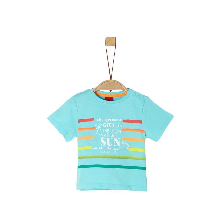 s. Olive r Camiseta azul turquesa