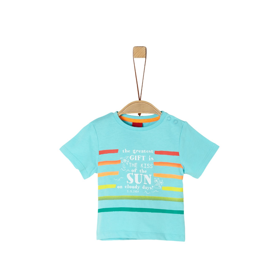 s. Olive r T-Shirt turquoise blauw